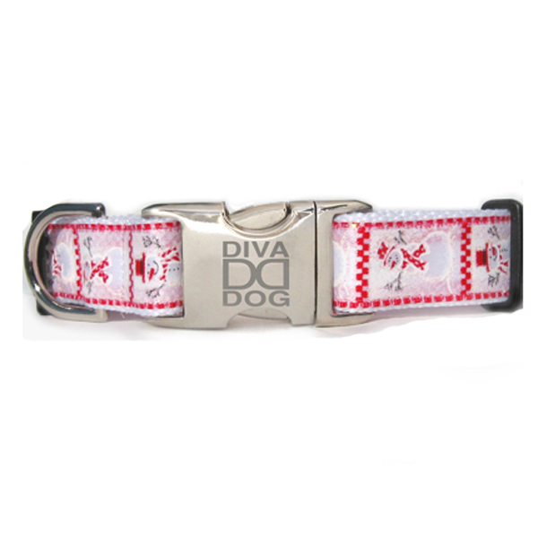 Frosty Holiday Dog Collar by Diva Dog