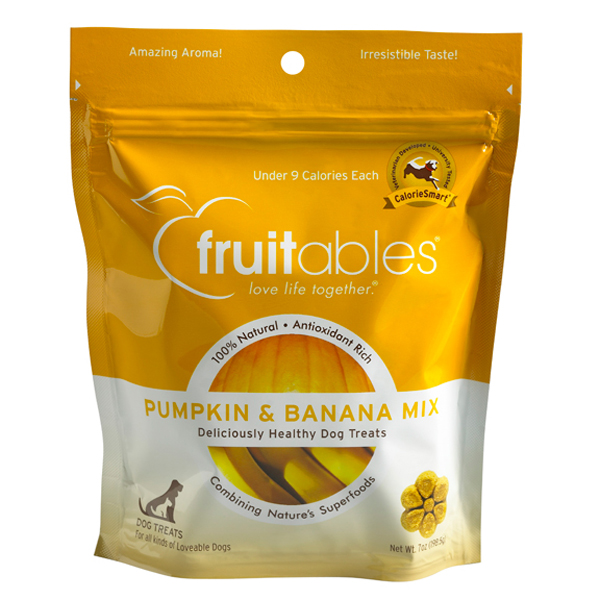 Fruitables Dog Treats - Pumpkin & Banana