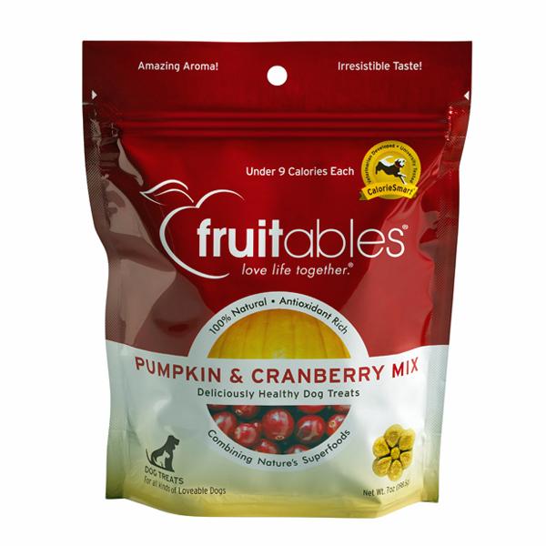 Fruitables Dog Treats - Pumpkin & Cranberry