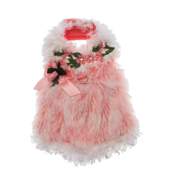 Furry Princess Dog Harness Dress