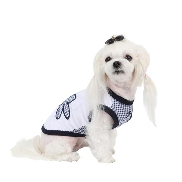 Geranium Dog Shirt by Puppia - Navy