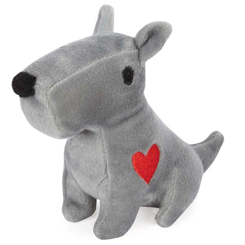 GGrriggles Sweetheart Scottie Dog Toy - Gray