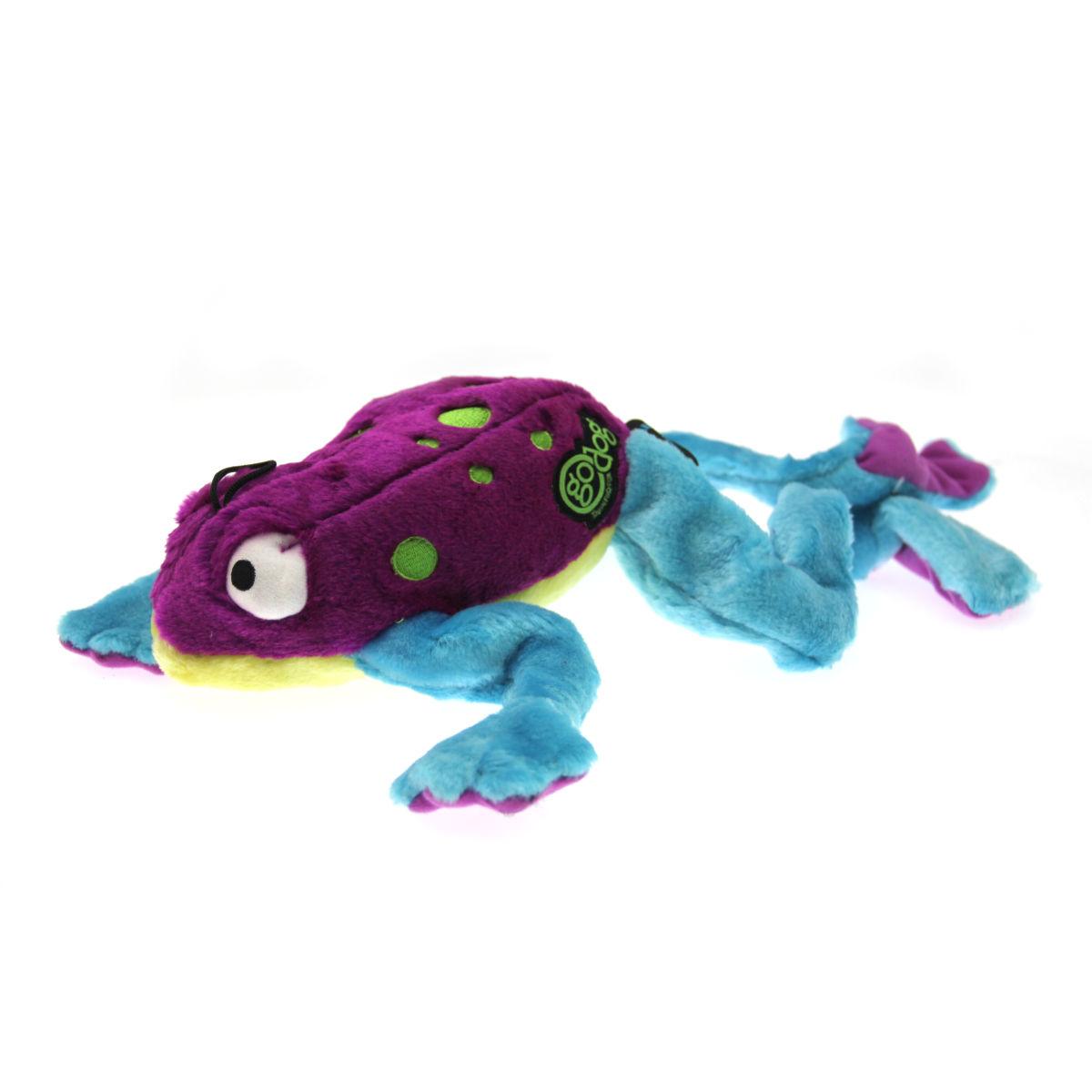GoDog Amphibianz Tree Frog Dog Toy - Purple