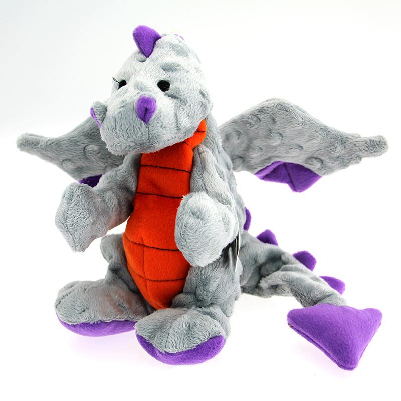 GoDog Dragons Dog Toy - Gray