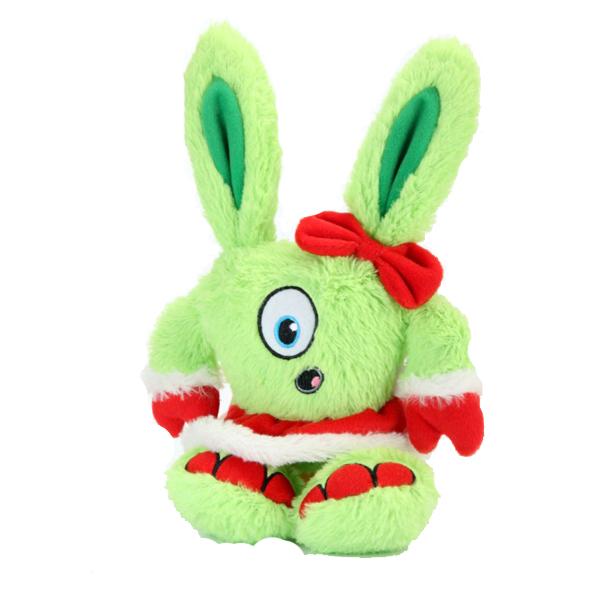 GoDog Holiday Yeti Dog Toy - Mrs. Claus