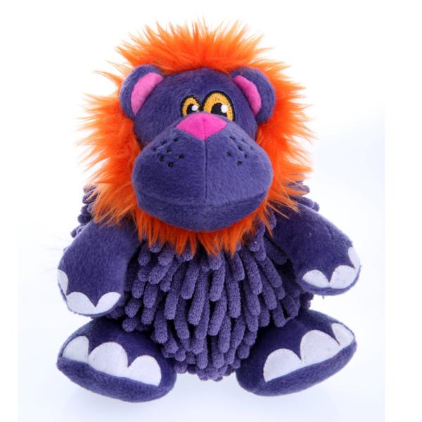 GoDog Mopz Dog Toy - Purple Lion