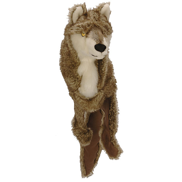 GoDog Roadkill Dog Toy - Wolf