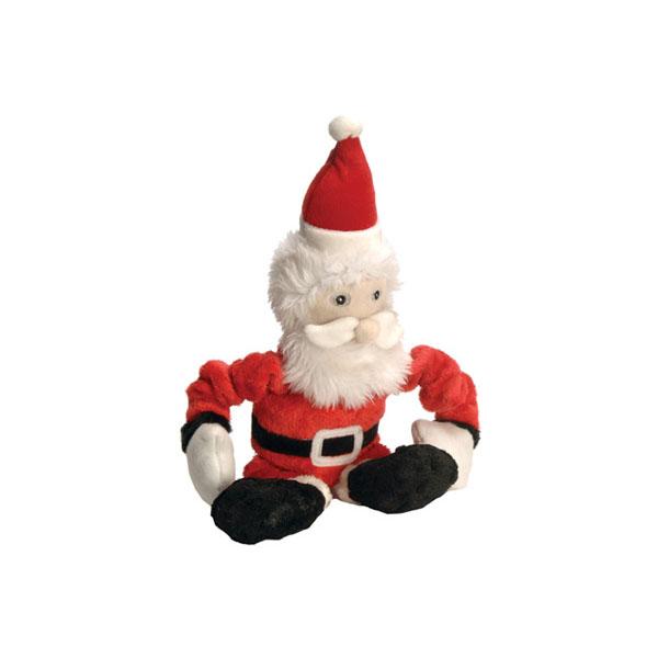 GoDog Stretch Santa Dog Toy with Chew Guard