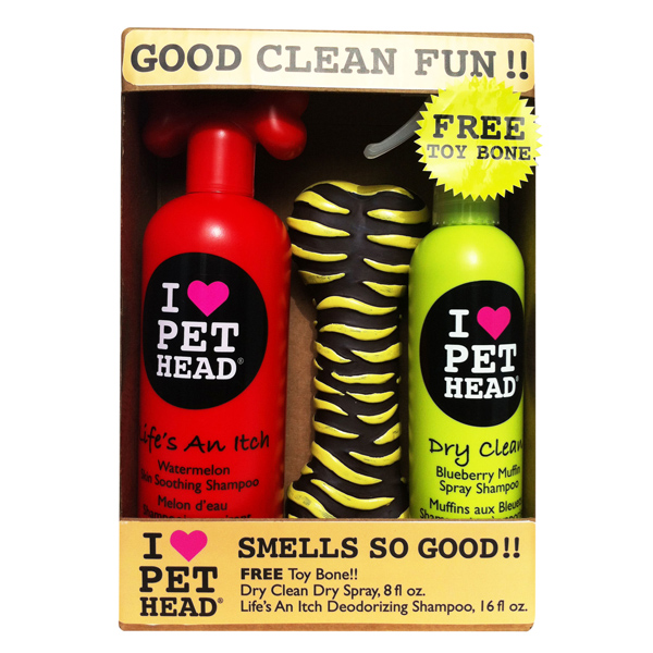 Good Clean Fun Combo Pack by Pet Head - Free Toy Bone!!!