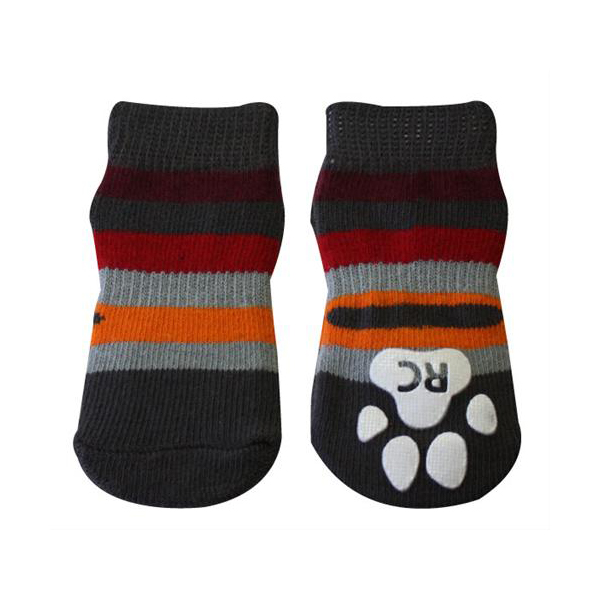 Gray Stripes PAWks Dog Socks