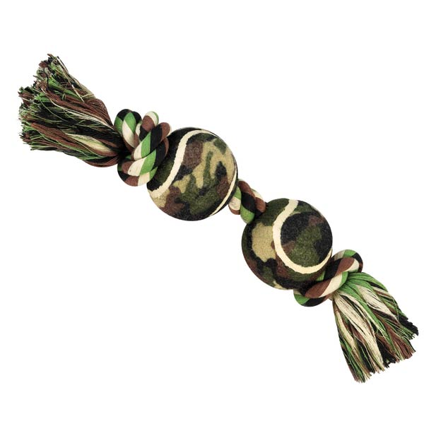 Grriggles Camo Rope & Ball Bone Dog Toy