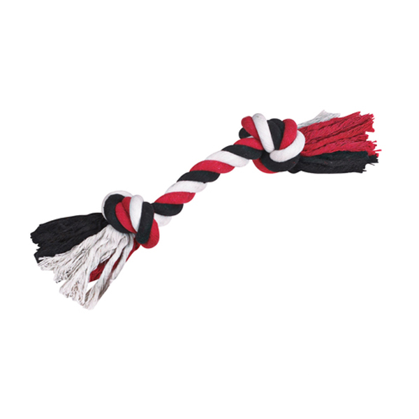 Grriggles Cotton Rope Dog Toy Bones - Red