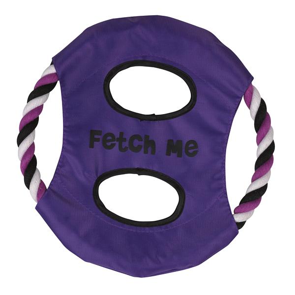 Grriggles Fetch Me Flyer Dog Toy - Ultra Violet