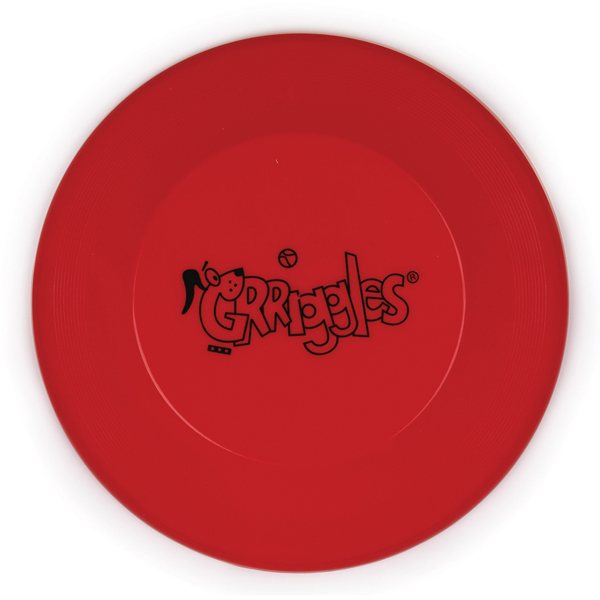 Grriggles Flying Disc Dog Toys - Red