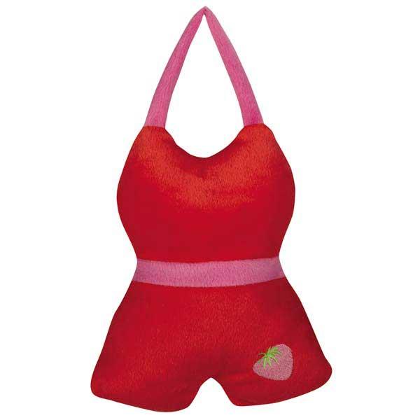 Grriggles Fruit Frenzy Bathing Fruits Dog Toy - Red