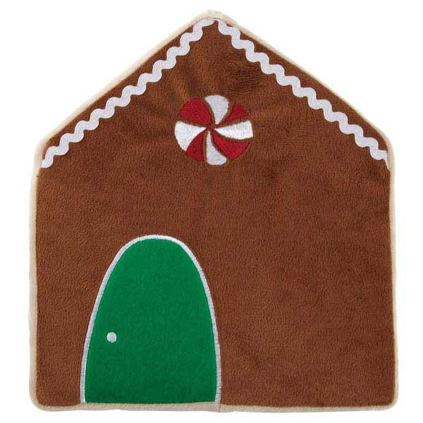 Grriggles Holiday Crinklers Dog Toy - Gingerbread House
