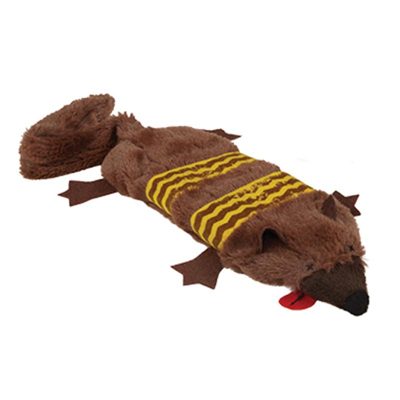 Grriggles Road Crew Unstuffies Dog Toy - Gopher