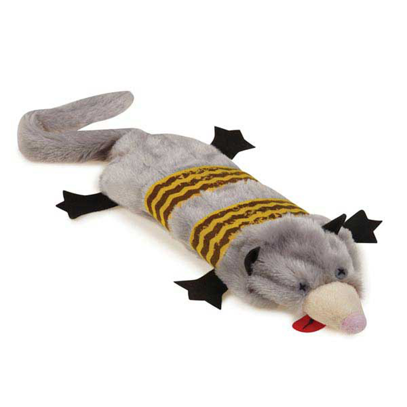 Grriggles Road Crew Unstuffies Dog Toy - Opossum