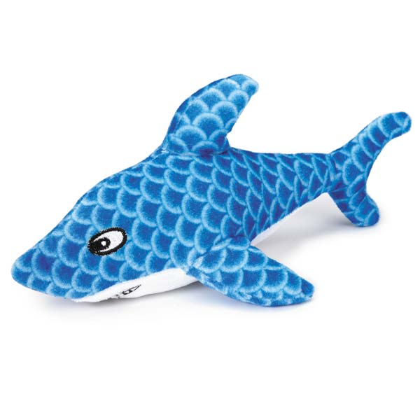 Grriggles Sizzle Shark Dog Toy - Blue