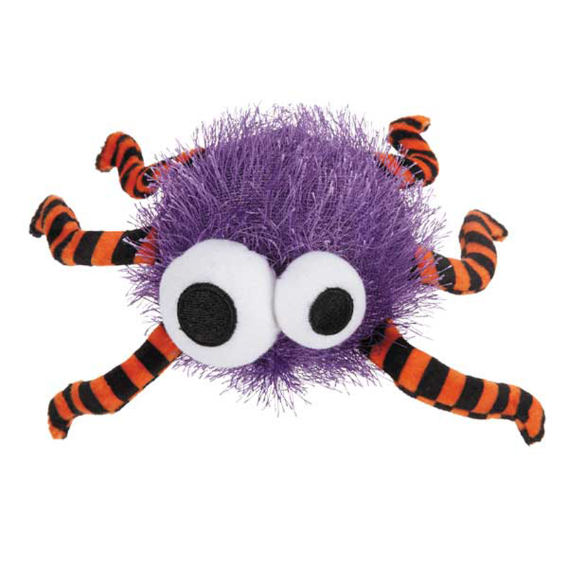 Grriggles Spooky Time Spider Dog Toy - Purple