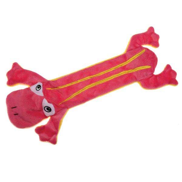 Grriggles Unstuffy Frog Dog Toy - Pink