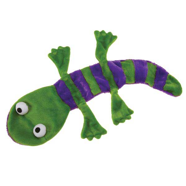 Grriggles Unstuffy Lizards Dog Toy - Green