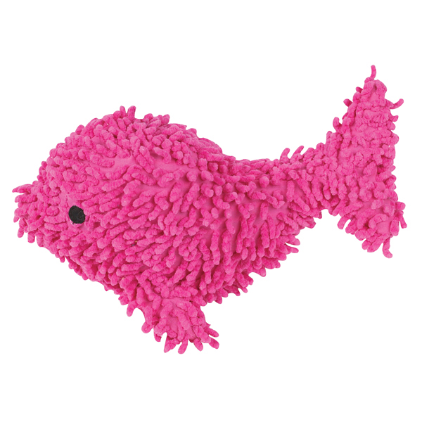 Grriggles Whales & Tails Moppy Dog Toy - Pink Whale