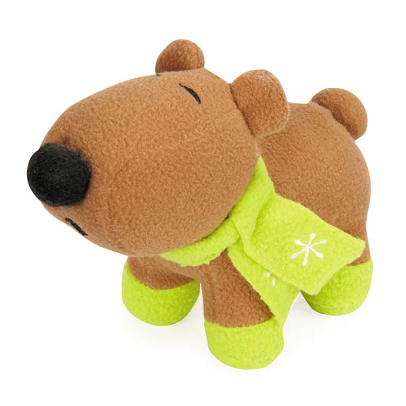 Grriggles Winter Lights Fleece Polar Bears Dog Toy - Brown