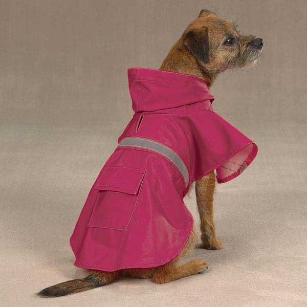 Guardian Gear Brite Dog Rain Jacket  - Raspberry