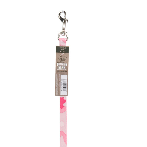 Guardian Gear Camo Dog Leash - Pink