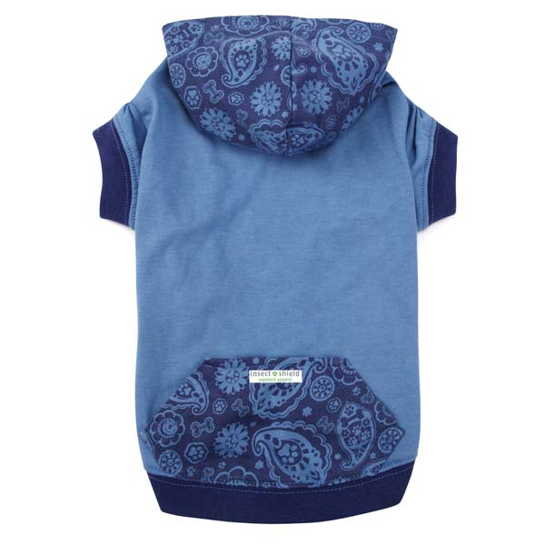 Guardian Gear Insect Shield Paisley Dog Pullover - Blue