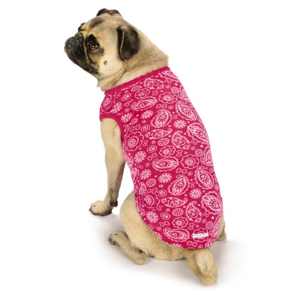 Guardian Gear Insect Shield Paisley Dog Tank - Pink