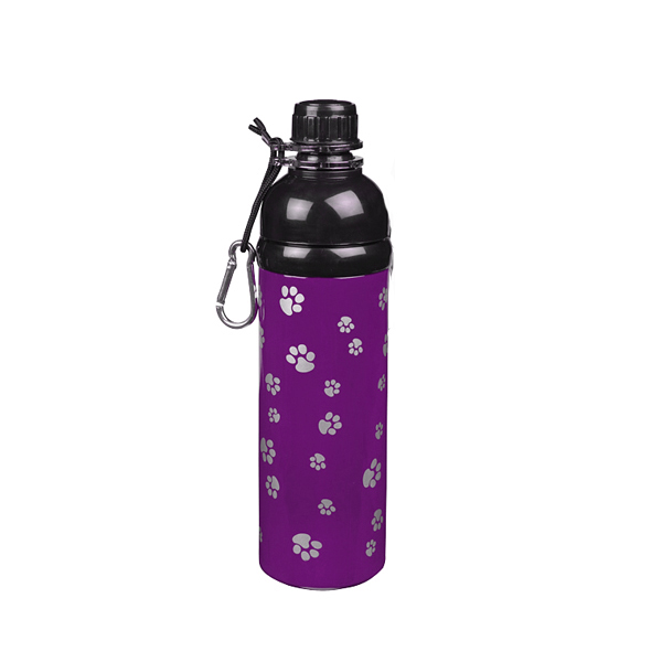 Guardian Gear Stainless Steel Pet Water Bottle - Purple