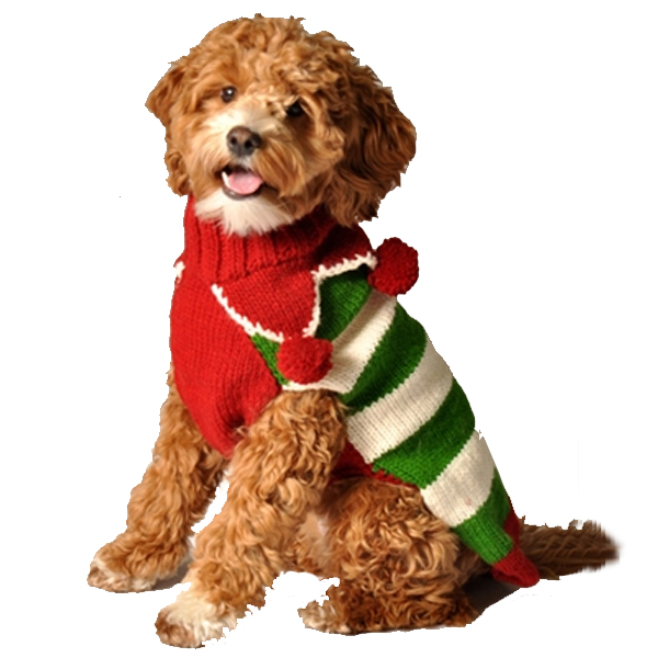 Handmade Christmas Elf Wool Dog Sweater