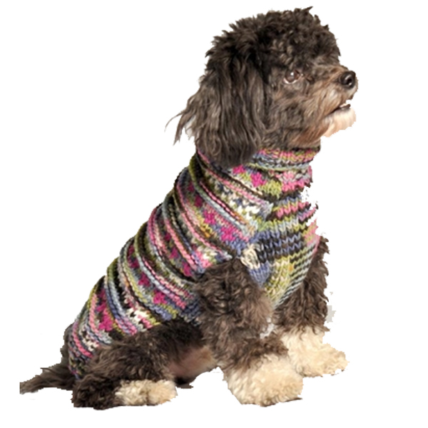 Handmade Woodstock Wool Dog Sweater - Purple