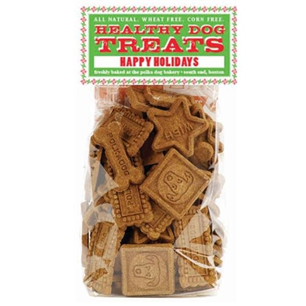 Happy Holidays Dog Treats by Polka Dog Bakery