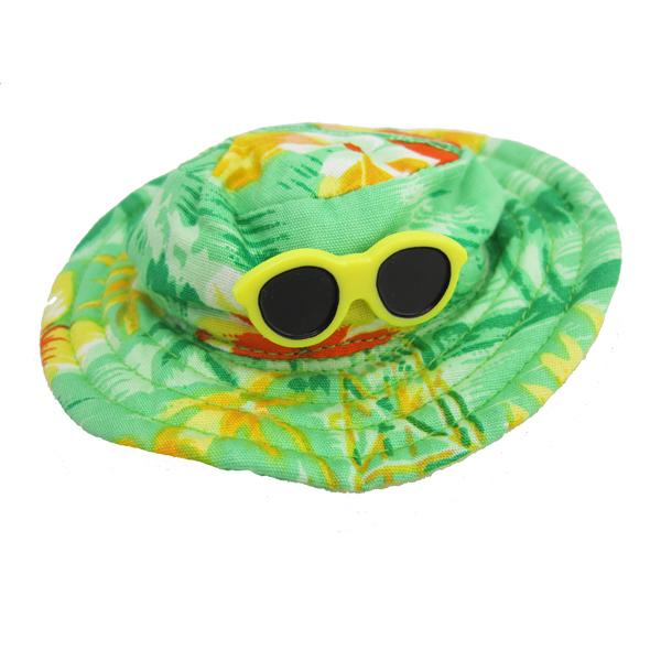 Hawaiian Dog Hat - Green