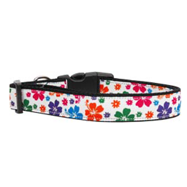 Hawaiian Hibiscus Dog Collar - Multi-Colored