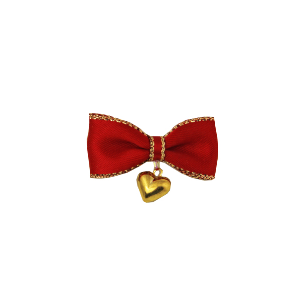 Heart Charm Dog Barrette