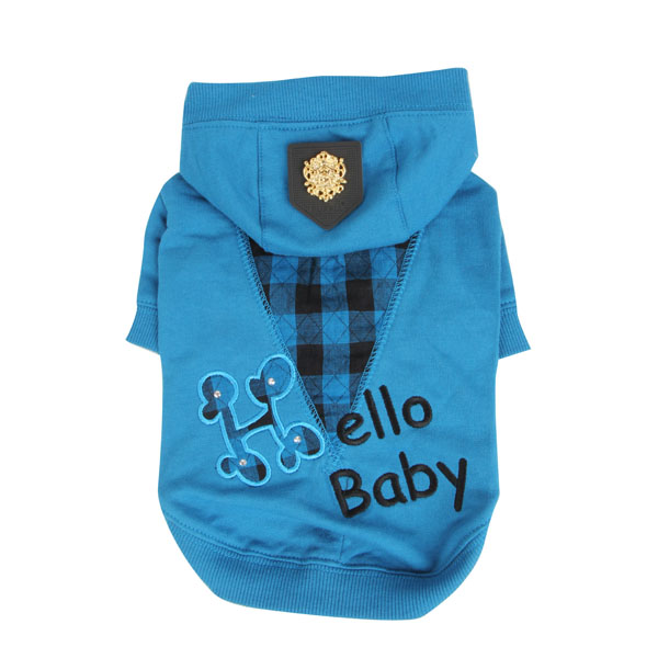 Hello Baby Dog Hoodie by Puppia - Blue