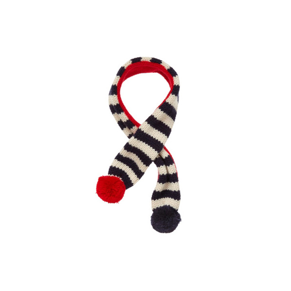 Striped Dog Scarf by Fab Dog - Navy/Red