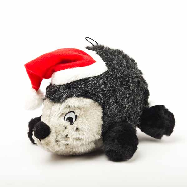 Holiday Hedgehog II Plush Dog Toy