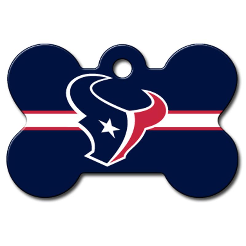 Houston Texans Engravable Pet I.D. Tag - Bone
