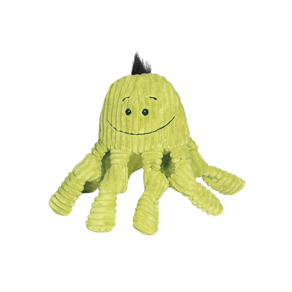 Huggle Hounds Octo Knotties Toy - Citron