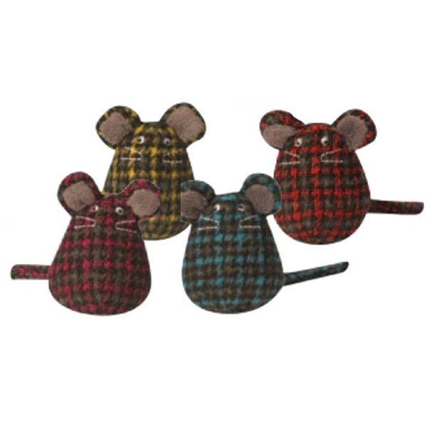 Hugglekats Plaid Mice Cat Toy
