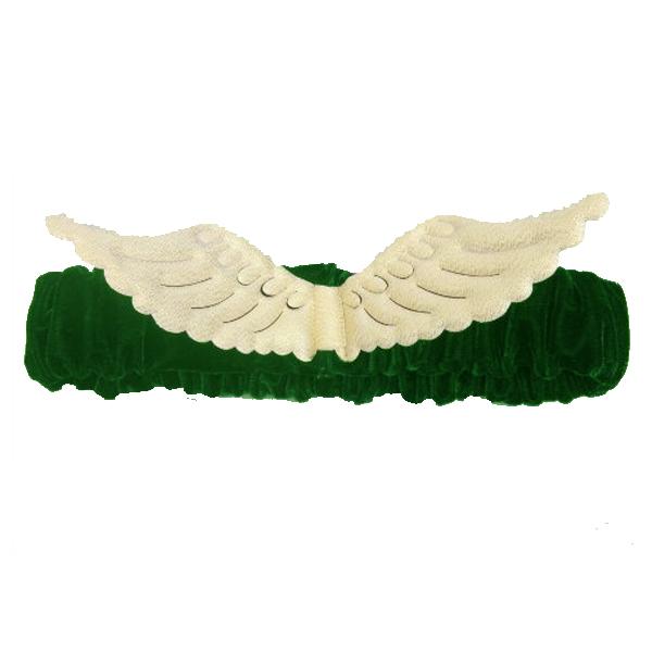 Huxley & Kent Green Angel Wings Scrunchie Dog Collar