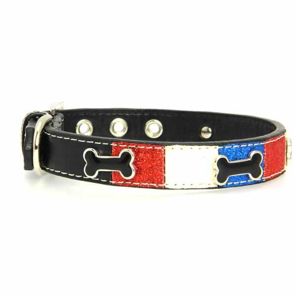 Ice Cream Dog Collar - Patriotic Bone