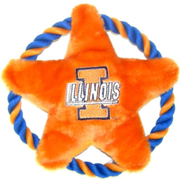 Illinois Fighting Illini Rope Disc Dog Toy