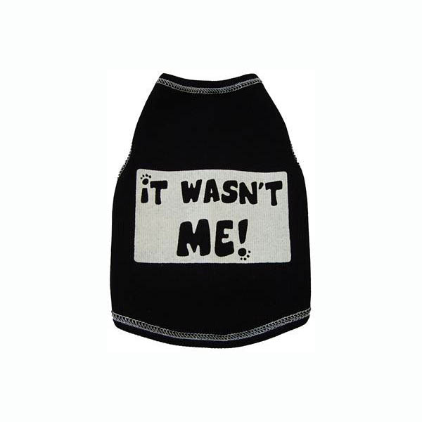 It Wasn't Me! Dog Tank Top - Black