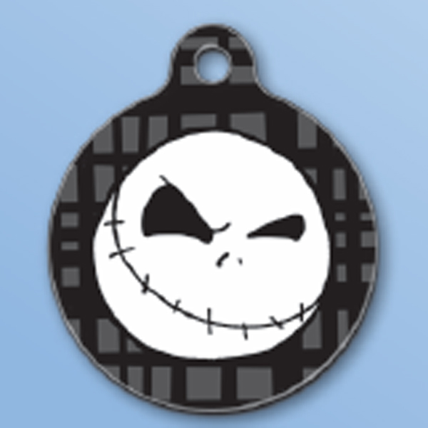 Jack Skellington QR Code Pet ID Tag